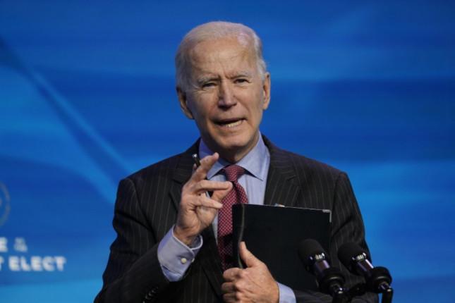 Biden anunciará un plan de estímulos por 1,9 billones de dólares
