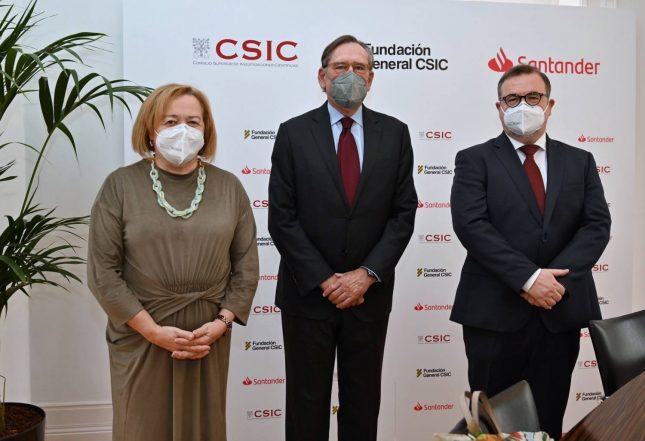 Banco Santander y la Fundación General CSIC refuerzan sus acuerdos de colaboración