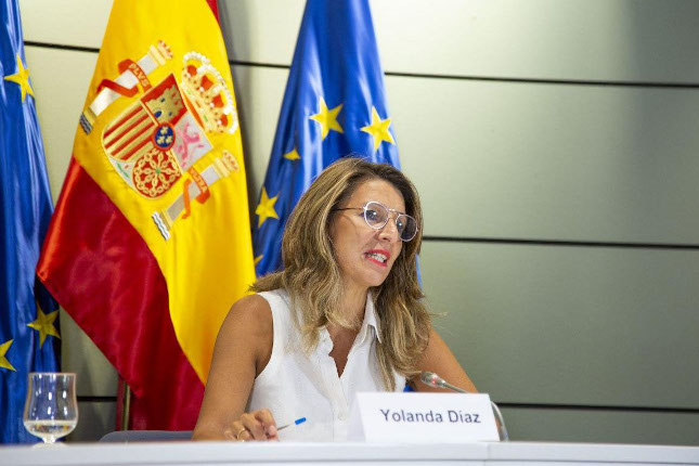 Yolanda Díaz afirma que habrá más prórrogas de los ERTE