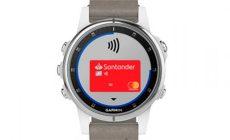 Banco Santander permite el pago móvil a través de los dispositivos Garmin