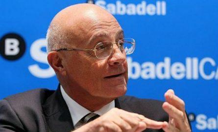 La cúpula de Banco Sabadell renuncia a su retribución variable